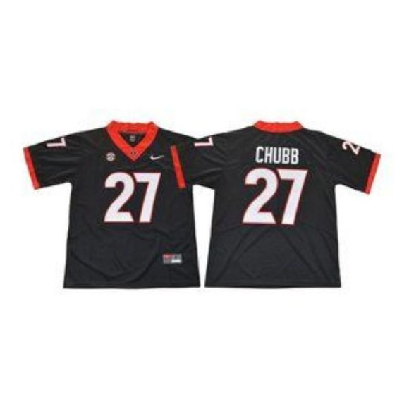 Georgia Bulldogs Nick Chubb Black Jersey